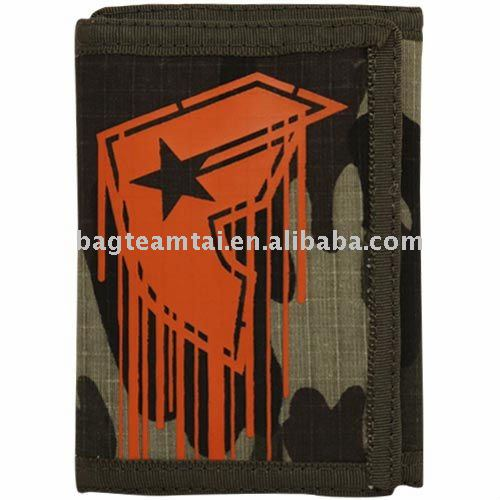 Men's three foldable Polyester wallet