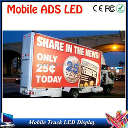 first choice for ADS tools easy installation advertising P10 for truck led display DIP multi color(full color) trailer/vehicle/