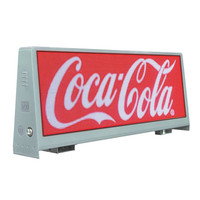 hd moveable full color big show screen led advertising LED taxi roof signs