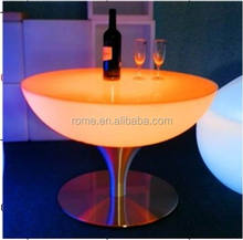 Modern LED lighting used coffee table/commercial bar tables used counters