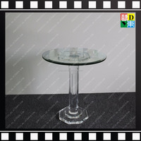 Office/home/hotel furniture Transparent/clear Acrylic/plexiglass round glass top coffee table