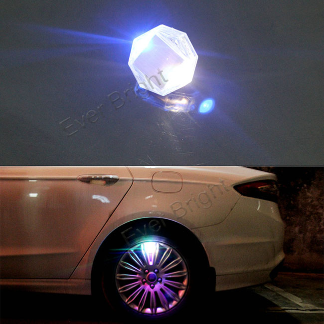 New Design Solar Power Car Wheel Tyre Tire Valve Lights LED Flash Light Car Accessories