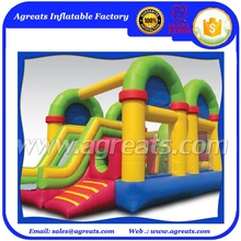 2017 Top quality pvc inflatable jumper,inflatable bouncy castle with slide G3105