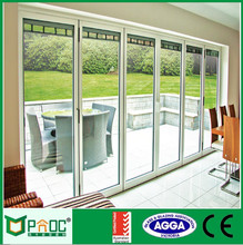 Soundproof cheap exterior or interior accordion folding door with double glass