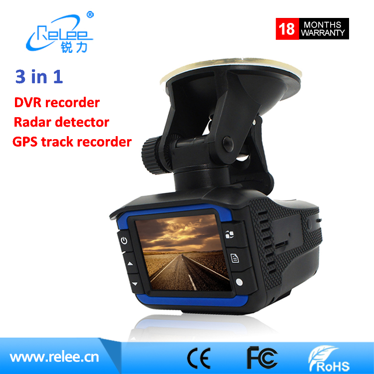 Russian voice Anti Speed Car Radar Detector 2.0inch LCD 1080P 3 in 1 GPS DVR Radar Detector