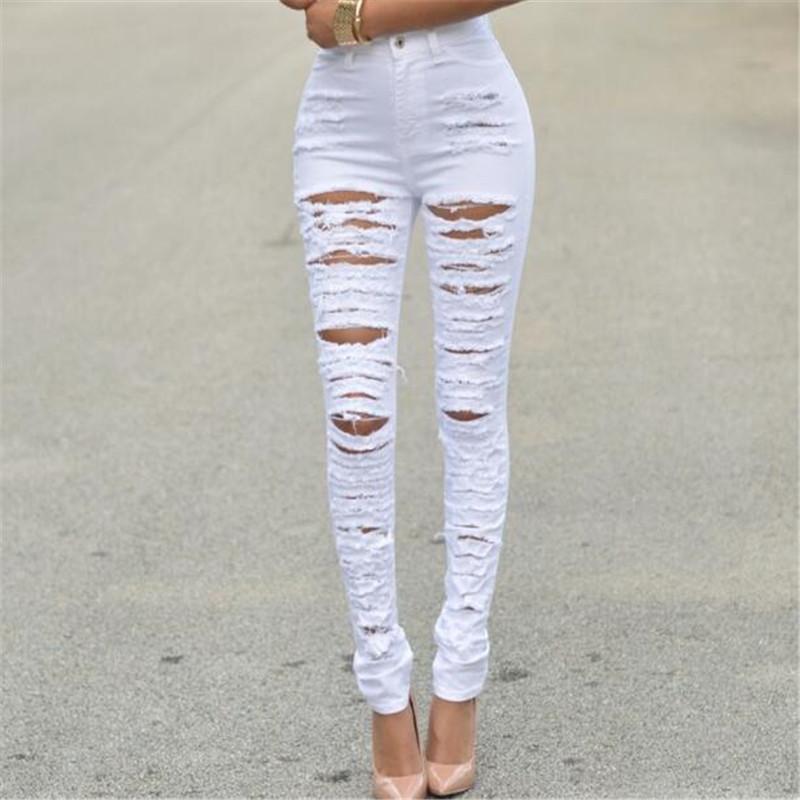 Сексуальные белые джинсы женские