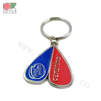heart shape high quality new enamel recessed  keyring nickel plating gold plating