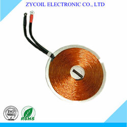 Self-bonded pancake coil inductive heating coil
