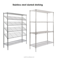 Durable Stainless steel shelving storage metal rack,long span wire shelving