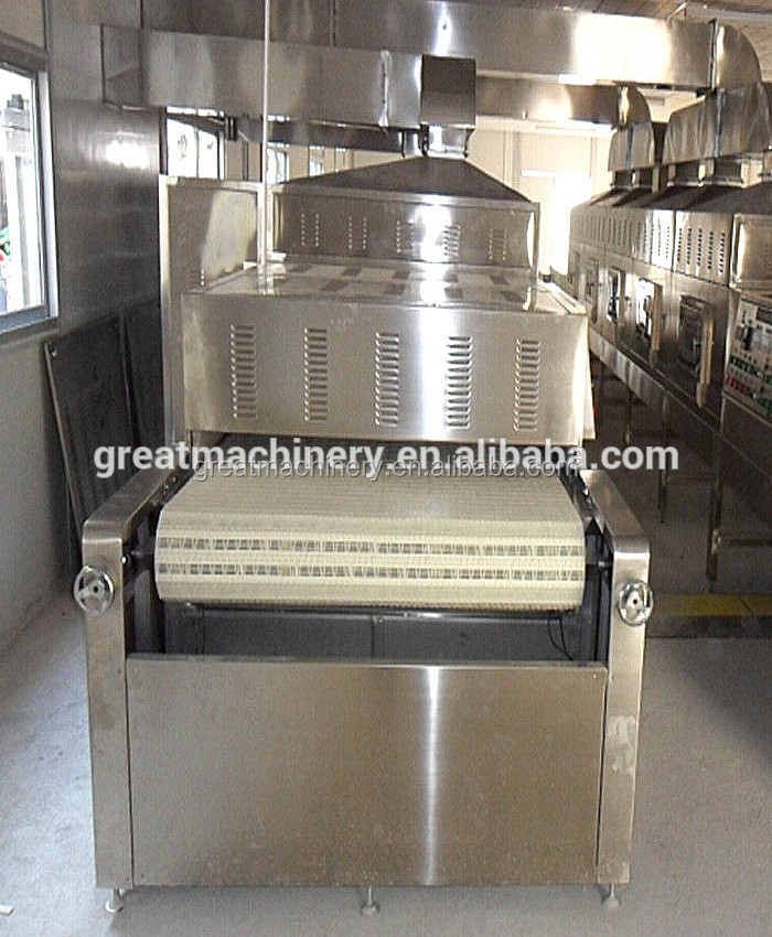 GRT hot selling tunnel conveyor belt sterilization dryer beef slices drying machine