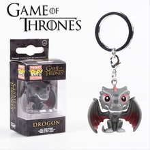 GOT Drogon keychain, collectable vinyl figure keychain for gifts
