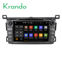 "Krando Android 7.1 8"" car multimedia player for toyota rav4 2013 2014 2015 dvd gps navigation radio WIFI 3G BT KD-TR813"