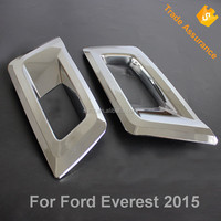 ABS Chromed Front fog Light Cover for Ford Everest 2015 SUV head Foglamp Cover auto accessories