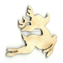 Cheap laser cutting customizable plywood wooden deer crafts