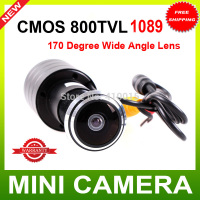 "Door Eye Hole Camera 1/3"" Color CMOS PC1089 800TVL Mirror Color Camera 170 Degree WIDE ANGLE LENS"