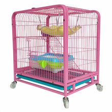 wholesale cheap metal cat breeding cage with wheels for sale