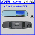 2016 OEM 4.3 Inch 1080P Rear View Mirror DVR( Back Lens)