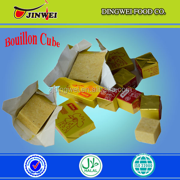 High quality 4g&10g Halal stewed beef meat flavor bouillon cubes
