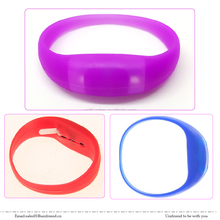 Music Activated or Motion Activated Colorful custom Led running Bracelet Silicone Light Up Wristband