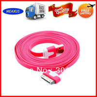 3 meter color flat cable for iphone