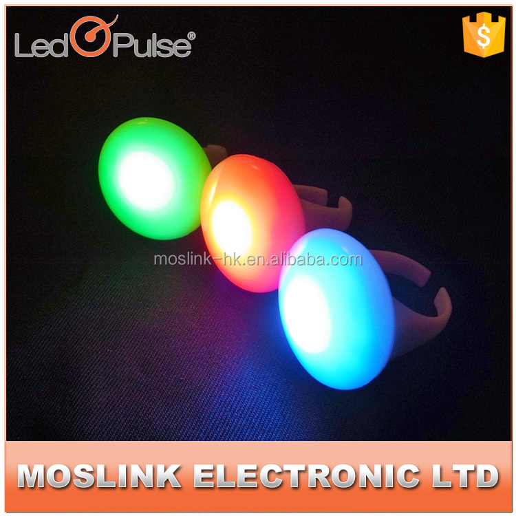 Cheap custom mini new professional party led finger ring flashing led light with factory price