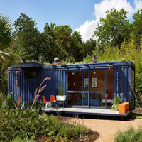 prefabricated 20ft 40hq container houses villa/movable house for sale with one bedroom