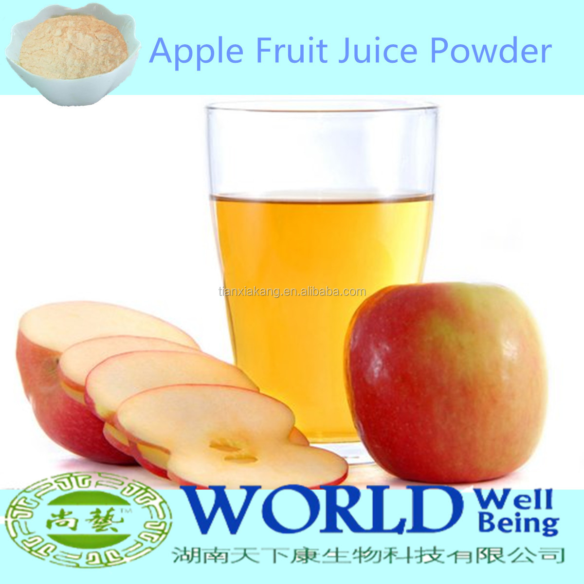 China Factory Pure Spray Dried Apple Juice Powder/Apple Juice Concentrate/Apple Pectin Powder