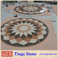 Waterjet flooring marble inlay sun flower designs