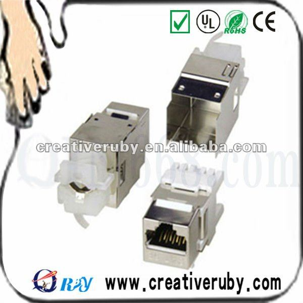 Cat6 rj11 to rj45 wall jack FTP shielded Keystone Jack