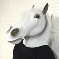 multiple style natural latex horse mask