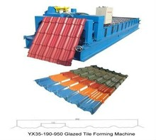 hydraulic prepainted steel roof tile glazed tile roll forming machine/tile making machine