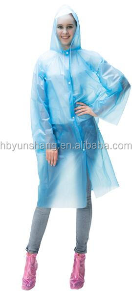 YunShang Adult Plain Re-Usable PE rain coat