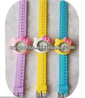hot selling silicon cute childrens bamboo low cost sports wrist watch