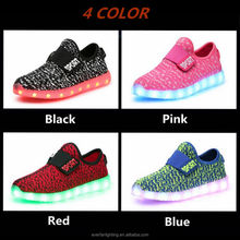 China shenzhen wholesale sport kids led shoes