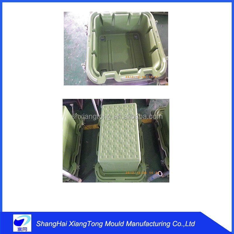 hot sales small portable aluminum rotomold plastic ice cooler box mould design