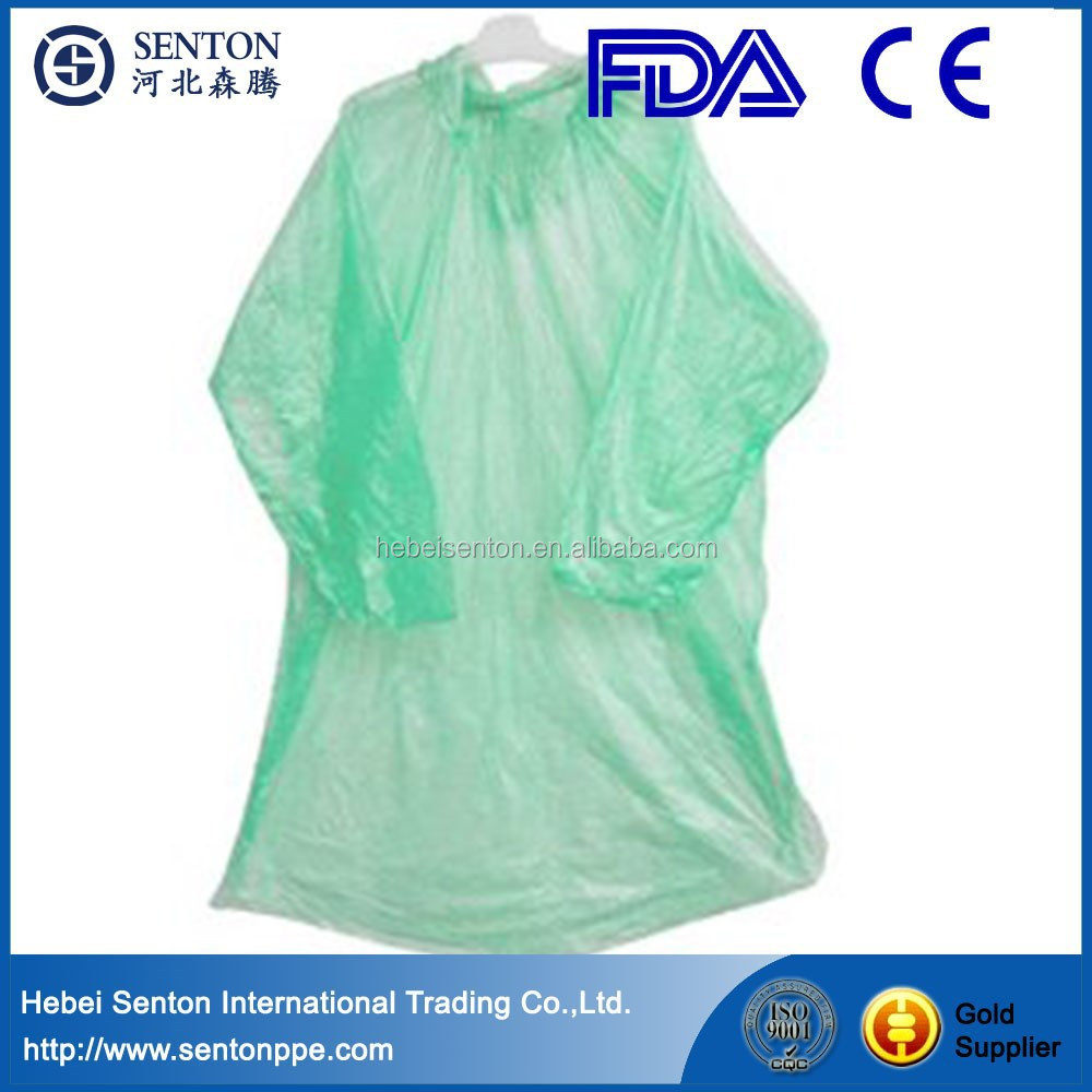 Promotional Disposable PE raincoat & PE poncho