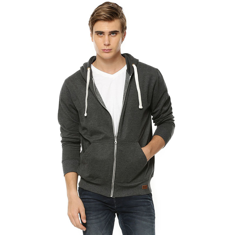High quality 100% <strong>polyester</strong> zip up hoodies mens custom hoodies plain