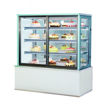 Rectangular Glass Pastry Cake Display Cooler Cabinet Cases