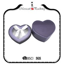 Ribbon Tied Heart shape Gift Paper Boxes With Grid Window