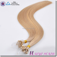 Frist Selling Human Hair Extensions Virgin Indian Temple Hair Micro Ring Hair