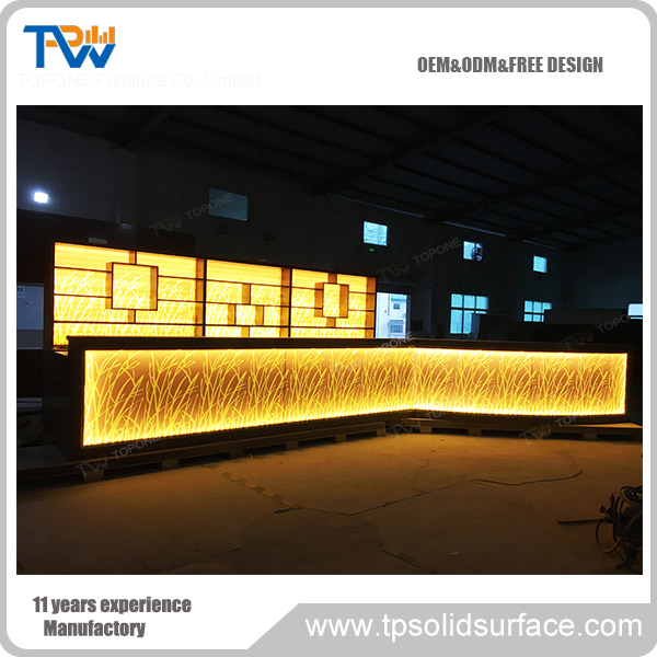 commercial furniture LED bar counter/cafe bar counter designs