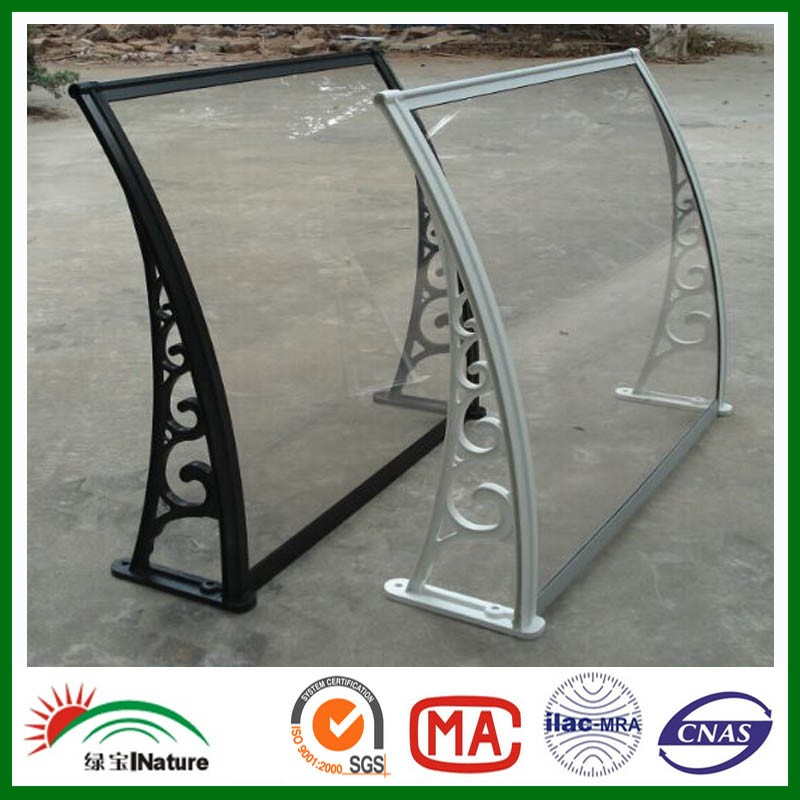 clear plastic awnings,balcony awning bracket,rain awning