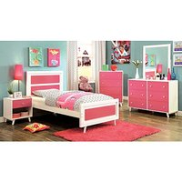 White And Pink Solid Wood Kids