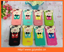Pig Animal 3D Silicone Case for iPhone 5 Soft protector