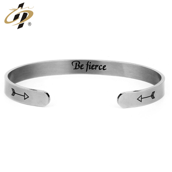 Wholesale factory cheap stainless steel metal women fancy bangles