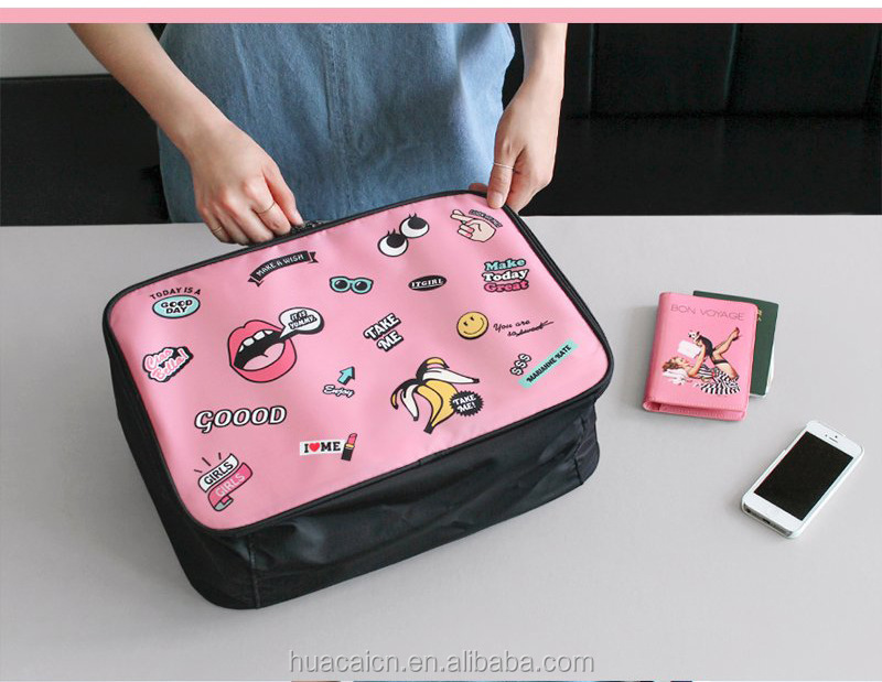 factory design tongue pattern storage pouch customized size and color travel bag luggage