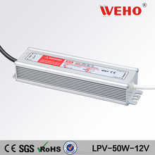 Factory outlet 12v waterproof power supply 50w led driver