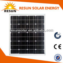 Hot sales 50W solar panel/mono solar panel price with TUV CE from China