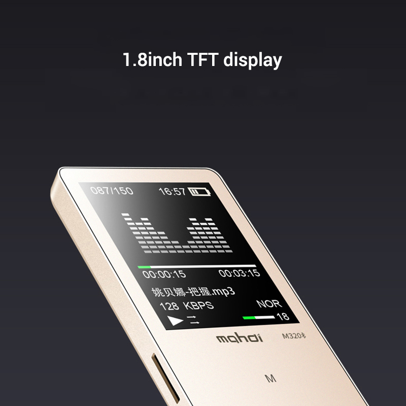 Mahdi M320 Hifi Lossless Music Bluetooth MP3 Player 1.8 TFT Screen 8GB Memory Multifunction MP3 Player Support FLAC ALAC Format (16)