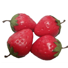 Wholesale foam craft imitation fake realistic artificial fruit strawberry in wedding